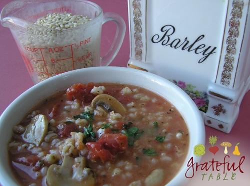 Barley mushroom soup whole food easy vegetarian recipe grateful 1 forumfinder Gallery