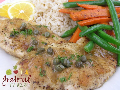 Chicken Breast w/ Caper Sauce, lemon, garlic