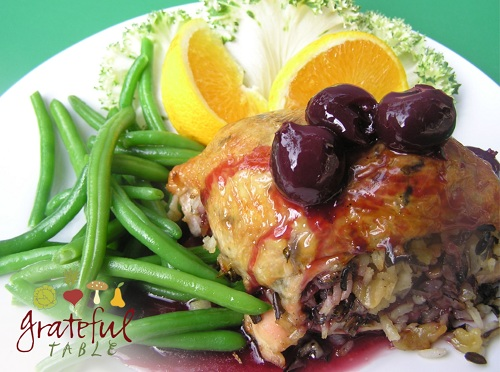 Grateful-Table-Chicken-w-Wild-Rice-Black-Cherry-Sauce