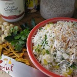 Coconut Rice Salad w/ Mango, Macadamias, Cilantro