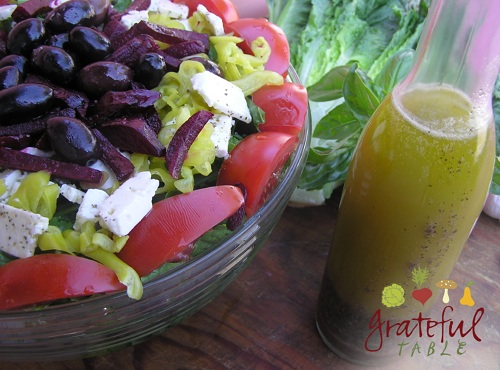 Greek Salad w/ Kalamata olives, Feta, Italian Dressing