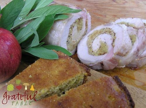 Pork Loin Roast w/ Apple Sage Corn Bread Stuffing- Elegant! | Grateful ...