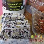 Coconut Cream Concentrate, cacao nibs, pecans