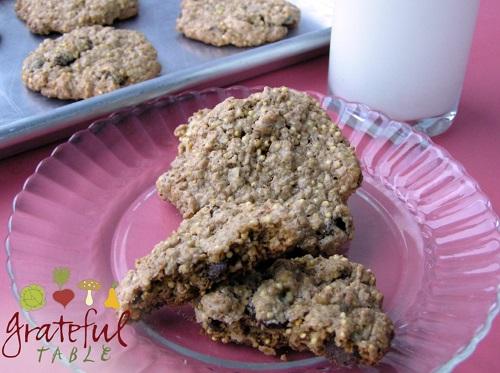 Oatmeal Millet Cookies w/ milk