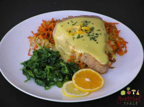 Grateful-Table-Baked-Fish-Tuna-w-Hollandaise-Sauce
