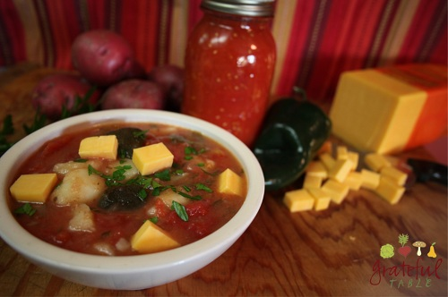Vegetarian Soup w. Roasted Peppers