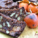 Holiday Nut Bread with Persimmons, chocolate chips