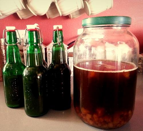 Put kefir in Grolsch bottles for soda
