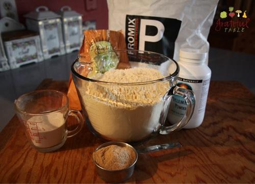Meals for weight loss: Mix whey powder with ground psyllium husks & acacia powder