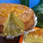 Olive OIl Cake w/ Orange, Corn Meal