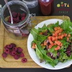 Steep Raspberries in White Vinegar- Great Dressing
