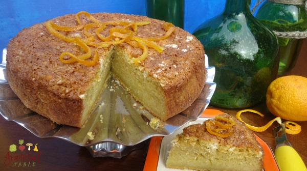 Olive OIl Cake w/ Orange, Corn Meal