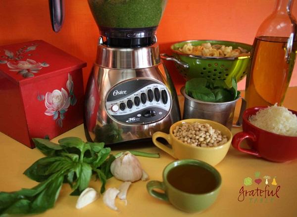 Pesto- Add Spinach, Garlic, Pine Nuts, Parmesan