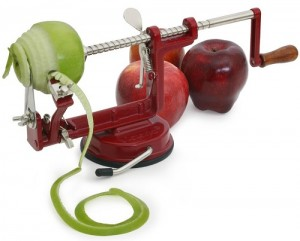Hand cranking apple peeler