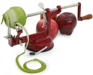 Hand cranking apple peeler