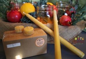 Natural Beeswax Candles- Green Gifts!