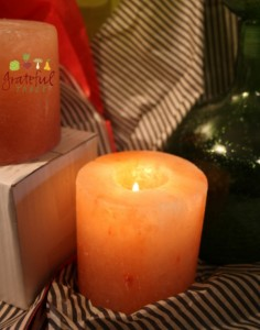 Green Gifts- Himalayan Salt Candles- Good Vibes