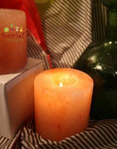 Green Gifts- Himalayan Salt Candles- Good Vibes