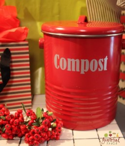 Compost Caddy- Green Christmas Gift