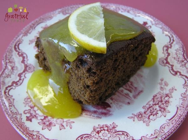 Gingerbread w/Lemon Curd- no leftover egg whites!