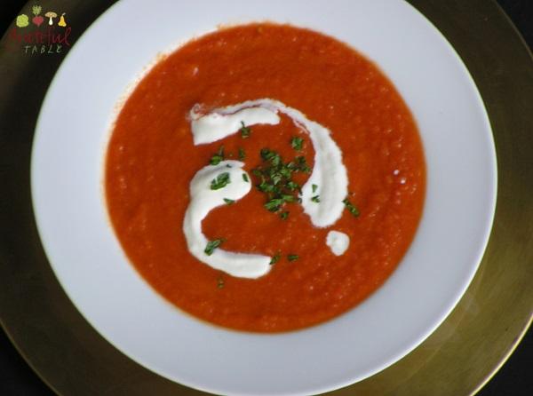Italian Tomato Soup- Just pureed veggies, herbs