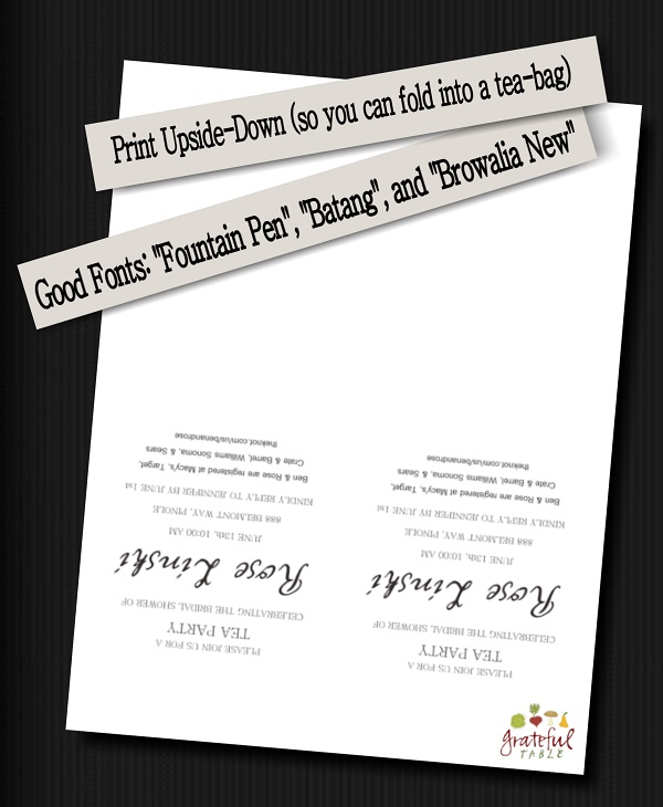 Grateful-Table-Invitation Tips