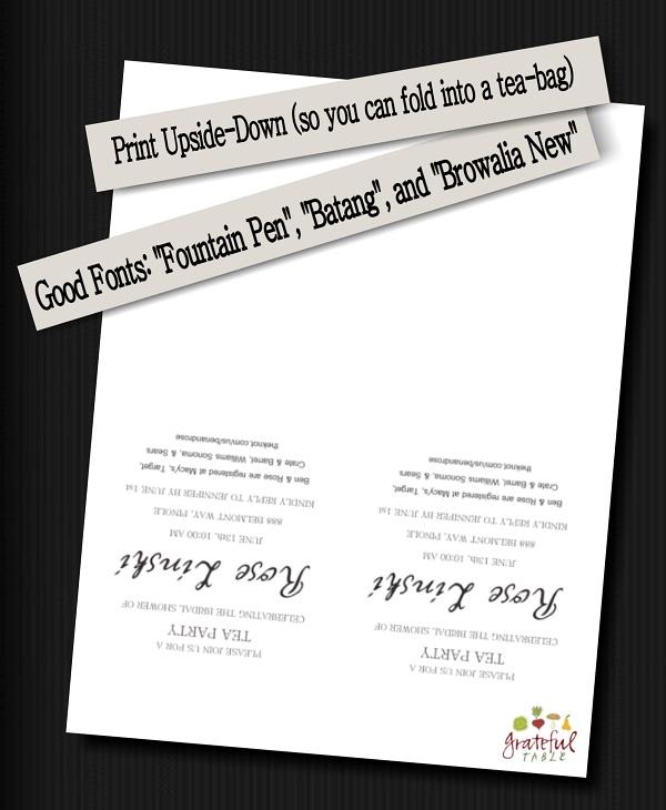 Grateful-Table-Invitation Tips