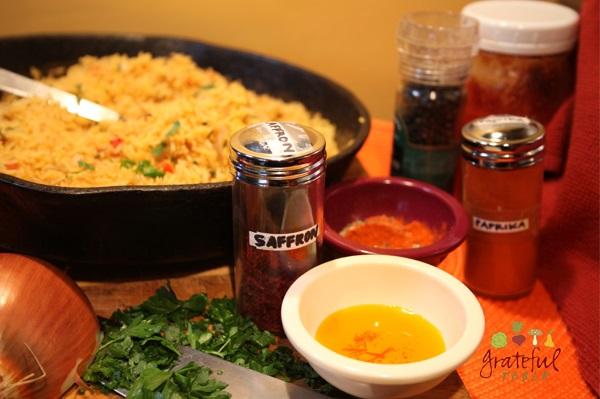 Paella w/ Saffron, New Deli Style