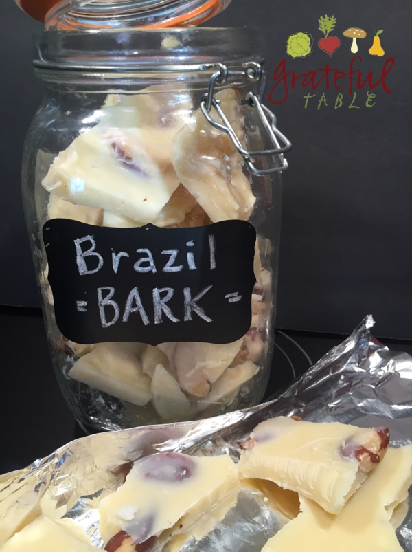 Mix coconut spread, butter, and Brazil nuts- add chunks to smoothies