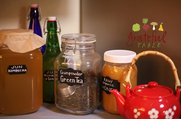 Use Green Tea & Honey in Jun Kombucha