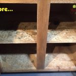 Particle Board Shelving Needs Redo
