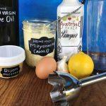 Make mayo w/ olive oil, healthy!