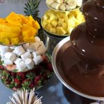 Warm ingredients in low-heat oven first, for easy chocolate fountain