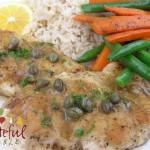 Chicken Breast w/ Caper Sauce, lemon, garlic
