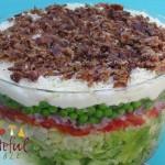 8 Layer Salad w/ Peas, Parmesan, Bacon, Veggies
