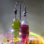 Virgin Olive Oil and Red Wine Vinegar Bottles