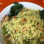 Orzo Pasta Salad w/ Carrots, Peas, Pine Nuts