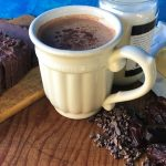 Cocoa nibs blended with dates, raisins, butter, coconut oil