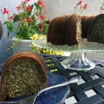 Warm honey syrup's poured over poppy seed cake once baked